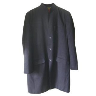 Shanghai Tang Charcoal Grey Men's Overcoat