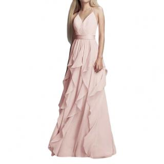 Vera Wang Blush Pink Ruffled Gown