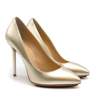 Charlotte Olympia Gold 105 Pumps