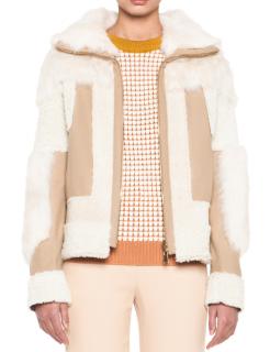 Chloe Reversible Shearling Patchwork Jacket