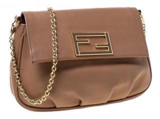 Fendi beige leather cross body bag