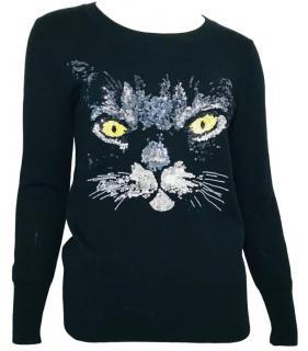 Markus Lupfer Black Cat embellished Jumper