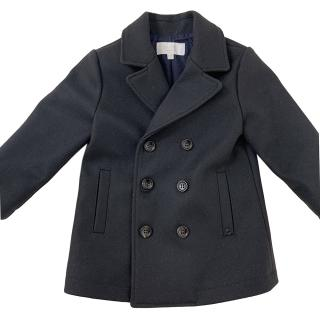 Gucci boy's black wool double breasted coat