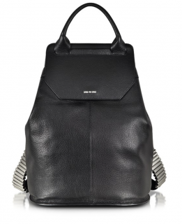 MCQ Alexander McQueen Black Razor Leather Backpack