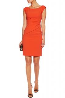 DVF fitted orange dress