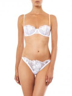 La Perla Maharani White Lace Lingerie Set