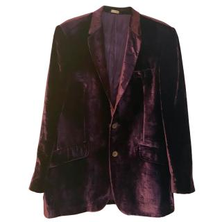 Paul Smith Purple Velvet Abbey Jacket