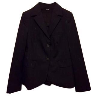 Jil Sander Navy Wool Blend Blazer