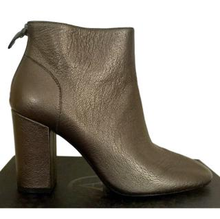 Ash Bronze Ankle Boots