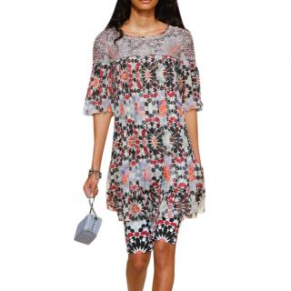 Chanel Dubai resort printed silk chiffon dress