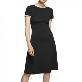 Karl Lagerfeld Black Pearl Embellished Shift Dress