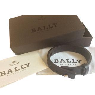 Bally Leather Dark Brown Bracelet
