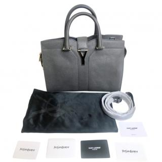 Yves Saint Laurent Grey Classic Cabas Y Chyc Leather bag