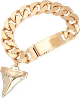 Givenchy Brass Palladium Shark Tooth Charm Bracelet