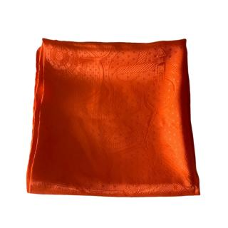 Hermes orange silk square scarf