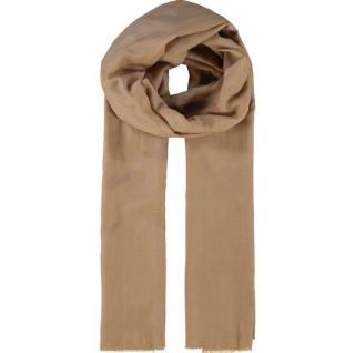 Dolce & gabbana nude fringed cotton/silk scarf