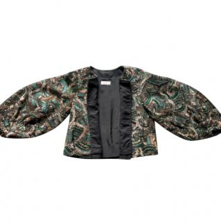 Dries Van Noten heavily god beaded embellished wool jacket