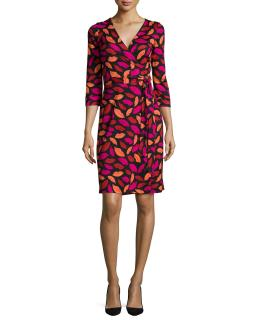 Diane Von Furstenberg Julian Two Lip Print Wrap Dress