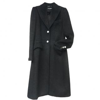 Dolce & Gabbana Mohair & Virgin Wool Blend Coat