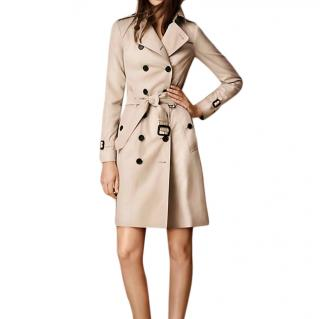 Burberry Prorsum Mid Length Beige Trench Coat
