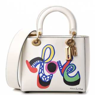 Dior Limited Edition Calfskin Niki De Saint Phalle Love Lady Dior Bag