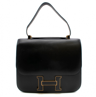 Hermes 29cm Box Leather Cartable Constance Tote