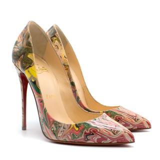 Christian Louboutin Marbled Pigalle 120mm Pumps