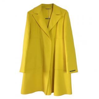 Sportmax Bright Yellow Unlined Coat