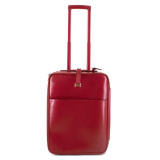 Louis Vuitton Pegase 55 Suitcase in Red Epi Leather