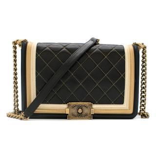 Chanel Black & Gold Medium Boy Bag
