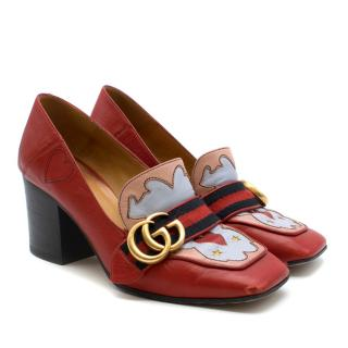 Gucci Peyton Texas Heart Leather Pumps