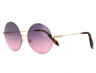 Victoria Beckham Dove Pink Round Sunglasses