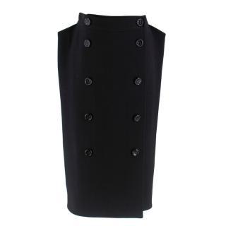 Bottega Veneta Black Buttoned Skirt