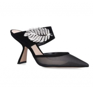 Nicholas Kirkwood Monstera crystal-embellished suede and mesh mules