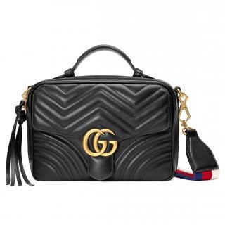 Gucci GG black leather GG Marmot Sylvie Bag