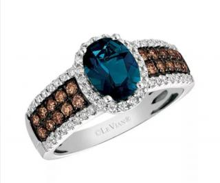 Le Vian Deep Sea Blue Topaz and diamond ring