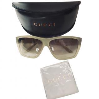 Gucci Silver Square Sunglasses