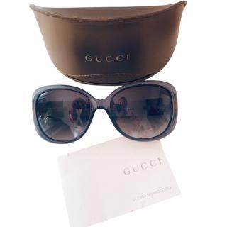 Gucci Oversize Web Stripe Sunglasses