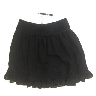 McQ Black Embroidered Mini Skirt