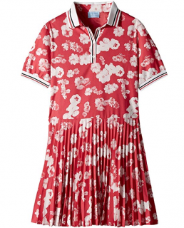 Lanvin Short Sleeve Floral Print Polo Dress