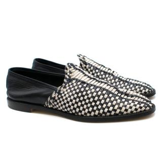 Manolo Blahnik Woven Slip on Loafers 40