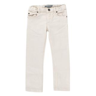 Bonpoint Beige straight cut kids jeans