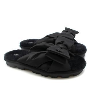 io (SarahH) UGG Womens Lushette Puffer Slippers Black