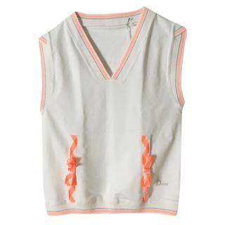 Dior Sleeveless Top With Neon Lace-Up