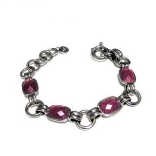 Dyrberg/Kern Pink Crystal Bracelet