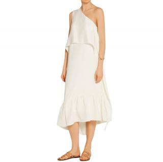 Tibi New York One Shoulder Ruffle Dress