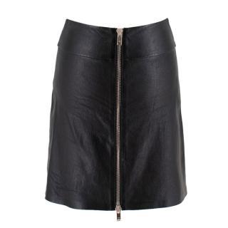 Sonia Rykiel Zip-Front Leather Mini-Skirt