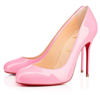 Christian Louboutin Dolly Pink Patent Fifi 100 Pumps