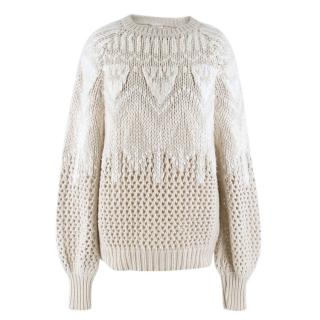 Brunello Cucinelli Cahmere Open Cable Knit Jumper