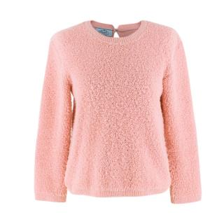 Prada Pink Alpaca-blend boucle sweater